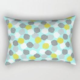 Block Printed Floral Rectangular Pillow