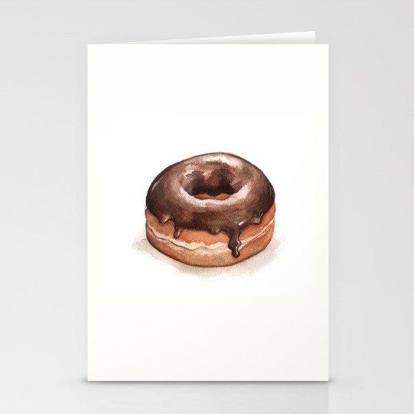 Chocolate Glazed Donut Stationery Cards