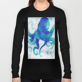 Octopus Watercolor Long Sleeve T-shirt