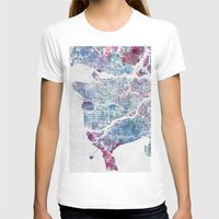 vancouver T-shirts featuring Vancouver map by MapMapMaps.Watercolors