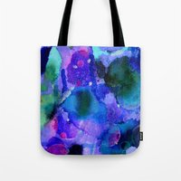 milky way Tote Bags featuring Milky way way way by Perk & Powe Designs