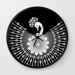 Peacock 1 Wall Clock