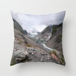 Panoramic view from Robert's Point Track at Franz Josef Glacier Throw Pillow