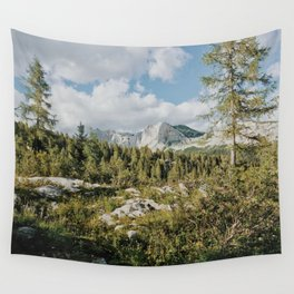 Afternoon in the mountains Wall Tapestry
