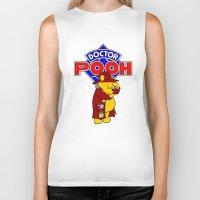 pooh Biker Tanks featuring Doctor Pooh by cû3ik designs