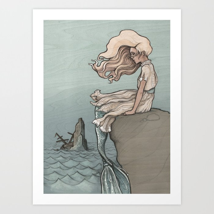 Evolution of a Mermaid Art Print
