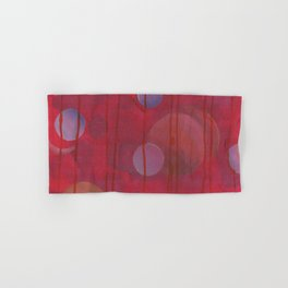reddish sphere Hand & Bath Towel