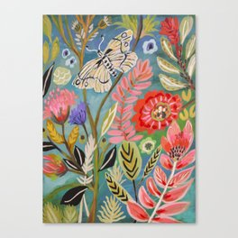 Butterfly Floral Canvas Print