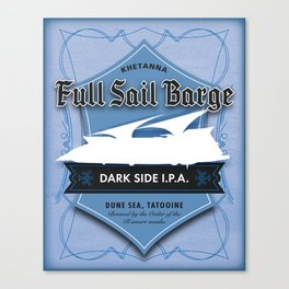 Full Sail Barge Ale Canvas Print