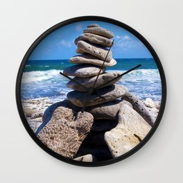 Rock Stack  Wall Clock