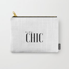 Printable Wall Art Fashion Art Fashion Girl Fashionista Holy Chic Girls Room Print Black And White Carry-All Pouch