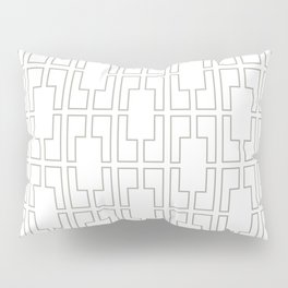 Simply Mid-Century Retro Gray on White Pillow Sham