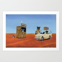 The Outback ATM Art Print