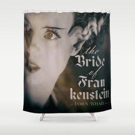 The Bride of Frankenstein, vintage movie poster, Boris Karloff cult horror Shower Curtain