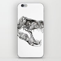 t rex iPhone & iPod Skins featuring T Rex by Cherry Virginia