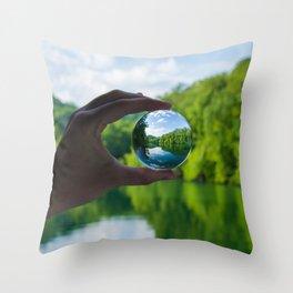 Lensball Landscape, Dale Hollow Throw Pillow