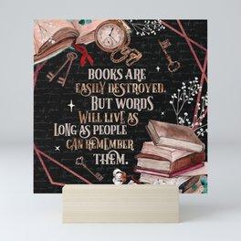 Shatter Me - Books Are Easily Destroyed - Tahereh Mafi Mini Art Print