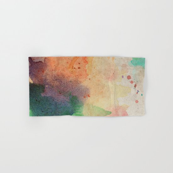 Pastel Color Splash 03 Hand & Bath Towel