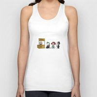 peanuts Tank Tops featuring Good Grief Bat Peanuts by thedoormouse