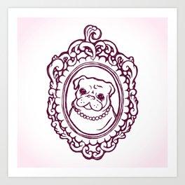 Pug Princess Art Print