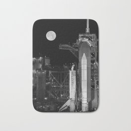 Space Shuttle Discovery On Launch Pad Bath Mat