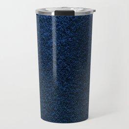 Dark Blue Fleecy Material Texture Travel Mug