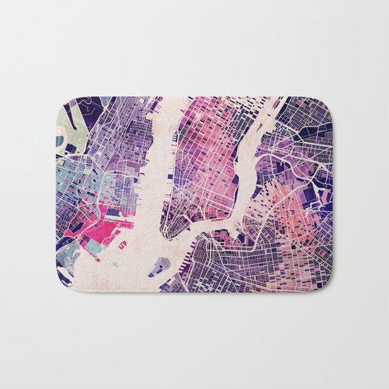 New York Mosaic Map #1 Bath Mat