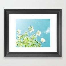Retro tint Hydrangea Framed Art Print