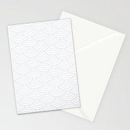 Light Grey Japanese wave pattern Stationery Cards