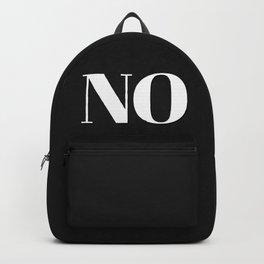 NO in black Backpack