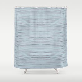 Meteor Stripes - Light Blue Shower Curtain