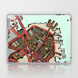Abstract Map- Boston North End Laptop & iPad Skin