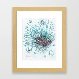 Pez Escorpión Framed Art Print