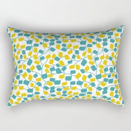 Branches and Leaves in Teal and Yellow Rectangular Pillow
