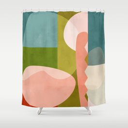 shapes geometry art mid century Shower Curtain