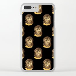 Michelle (black background) Clear iPhone Case