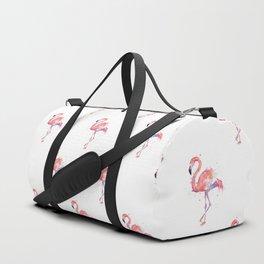 Flamingo Pattern Pink Flamingo Watercolor Duffle Bag