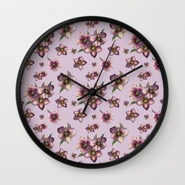 Hellebore or Christmas rose Wall Clock