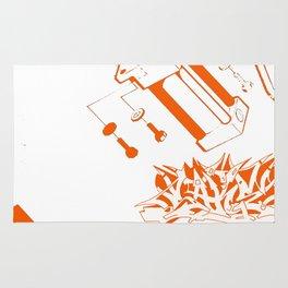 Orange Tech Rug