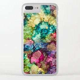 Abstract Design of Explosive Colors Clear iPhone Case