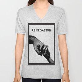 ABNEGATION - DIVERGENT (draw by me) Unisex V-Neck