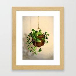 Succulent dragon Framed Art Print