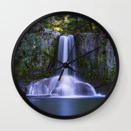 Waiau Falls Coromandel New Zealand Wall Clock