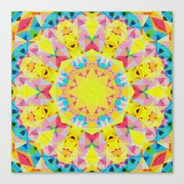 Organic Peace Oil Painting Mandala Canvas Print
