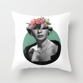 Jean simmons Floral Throw Pillow