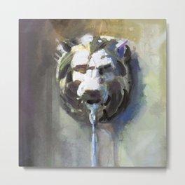 Lionhead Fountain Metal Print
