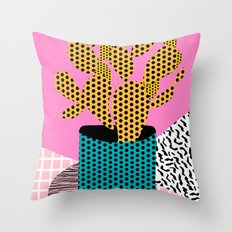 Ace - 80's throwback retro vintage hipster texture vinyl record 1980's 90's cool memphis bright fun Throw Pillow