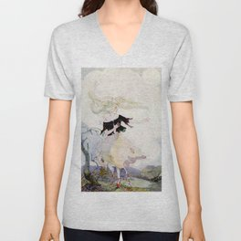 """""""The Red Shoes"""" by Anne Anderson Unisex V-Neck"""