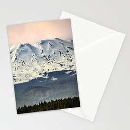 Mount St. Helens at Sunset Stationery Cards