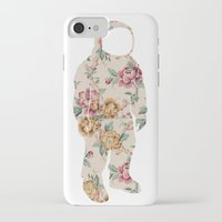 neil gaiman iPhone & iPod Cases featuring Floral Neil  by Grafity Apparel